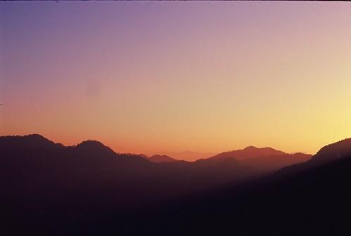 china sunset sky mountain film nikon kodak peak slide layers 135 northern fm3a pavillon pagode fm3