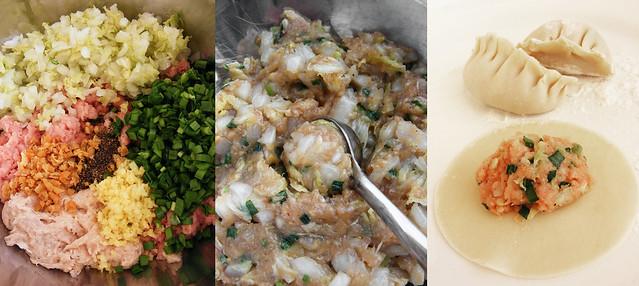 Dumpling vulling maken