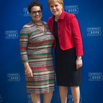 Jackie Kay with Nicola Sturgeon   Scotland's First Minister meets her Makar © Alan McCredie