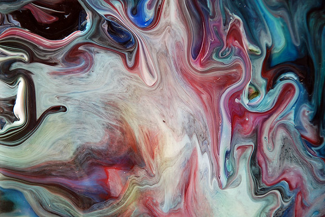 Fluid Painting Detail Whites & Reds