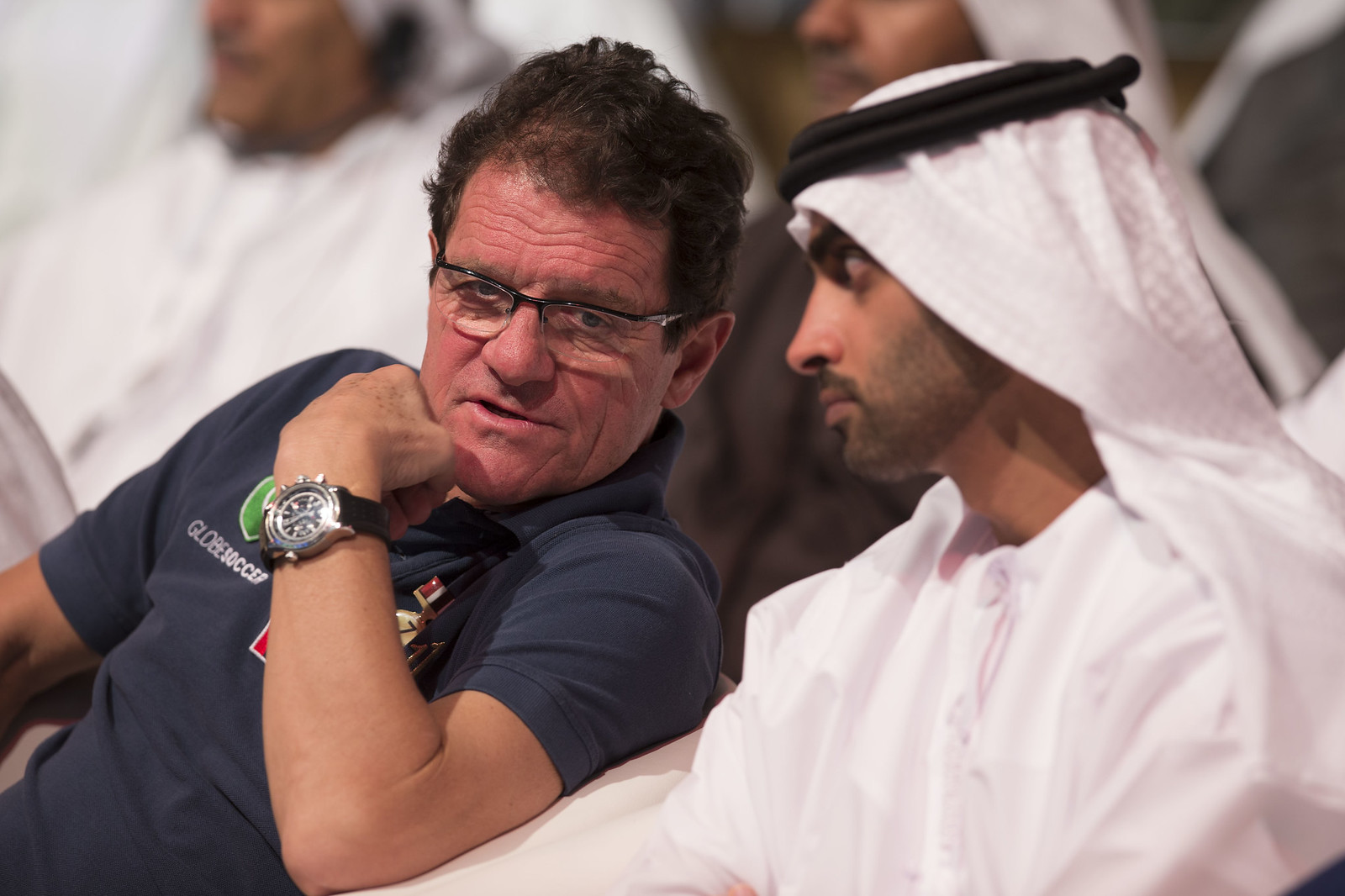 Fabio Capello and Mohammed Al Mahmood
