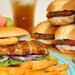 rib shaped patty sandwich