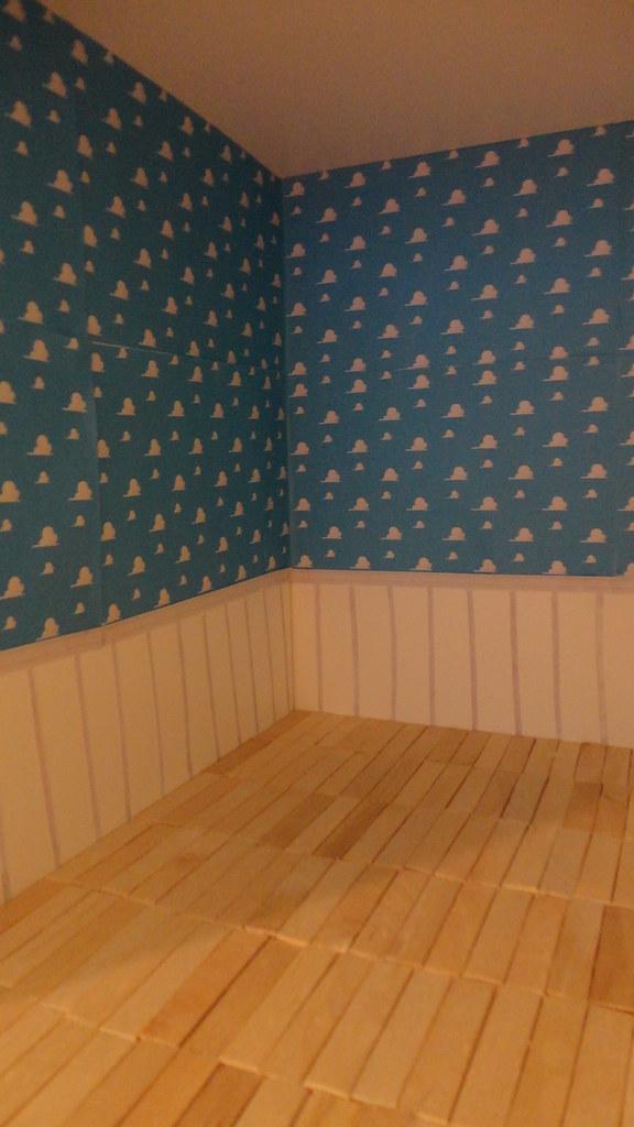 Andy S Room In Progress Printed Cloud Wallpaper Hard Wood Flickr