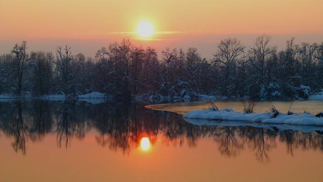 Questo tramonto riscalda il mio gelido inverno