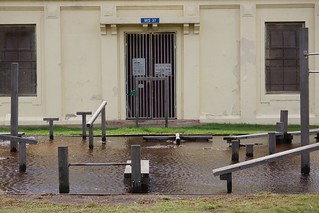 Flooded exercise ground at Dudley Page Park | by sfoskett