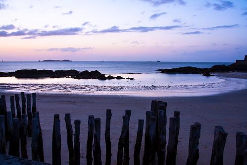 sunset sea mer beach canon tramonto mare tide bretagne playa britanny plage spiaggia f4 1740 saintmalo stmalo maree marea puestadelsol coucherdusoleil bretagna canon1740mmlf4