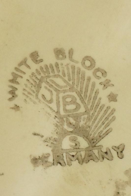 DSC01535 Jug Marked J.L.B.& S. White Block Germany crop