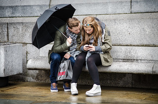 Texting in the Rain | by garryknight
