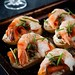 Prawn and Smoked Salmon Crostini