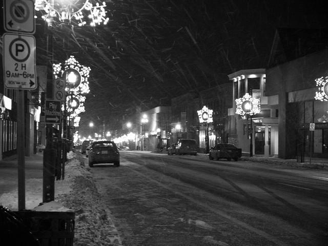 January 3: Snow, night