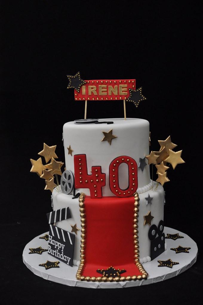 Incredible Hollywood 40Th Birthday Cake Jenny Wenny Flickr Funny Birthday Cards Online Elaedamsfinfo
