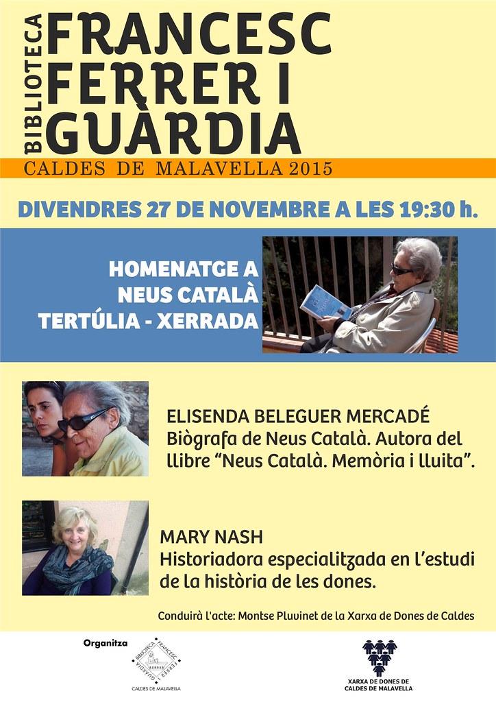 Xerrada sobre la Neus Català (Caldes, 2015)