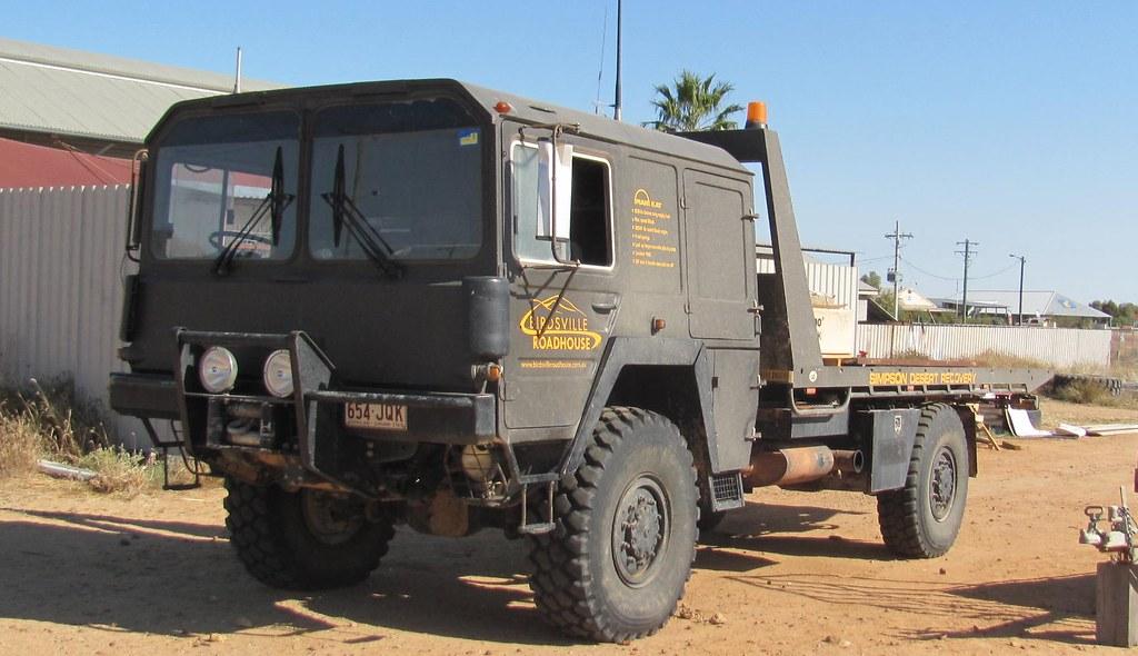 Birdsville Roadhouse's Desert Recovery Vehicle  Ex-German