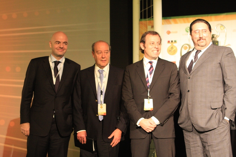 Infantino, Pinto Da Costa, Rosell and Branchini