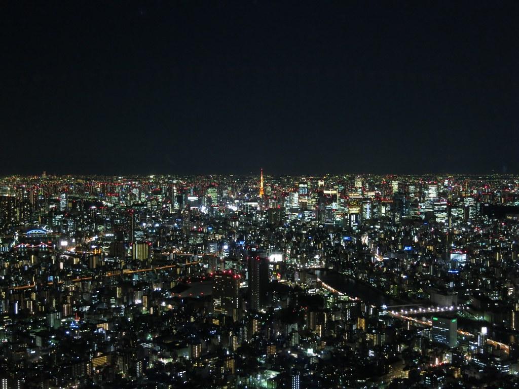 東京スカイツリーから見た夜景 The Night View From Tokyo Sky Tree