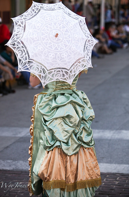 Bustle and Parasol