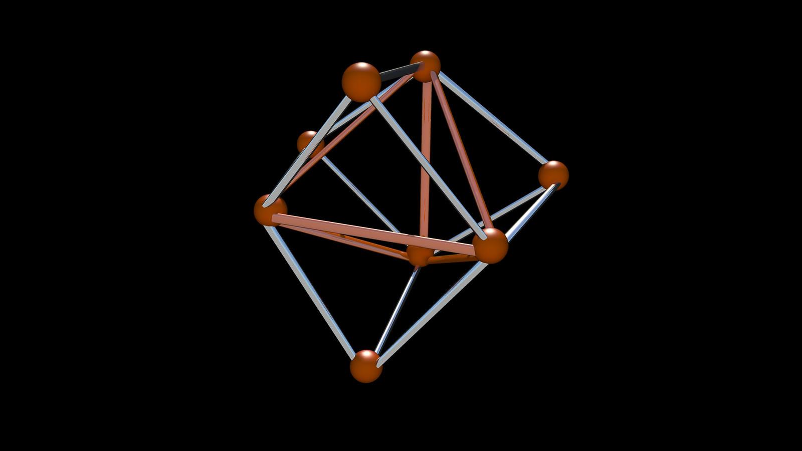 tetrahedron spiky correlaciones