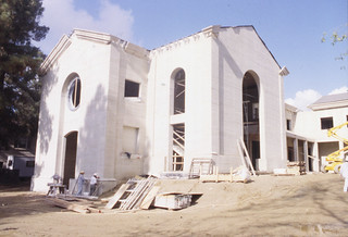 Smith Campus Center while under construction. It was built in 1999.