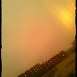 the twilight sky after the rain.