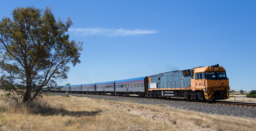 NR70 eases out of Ararat towards Melbourne by michaelgreenhill