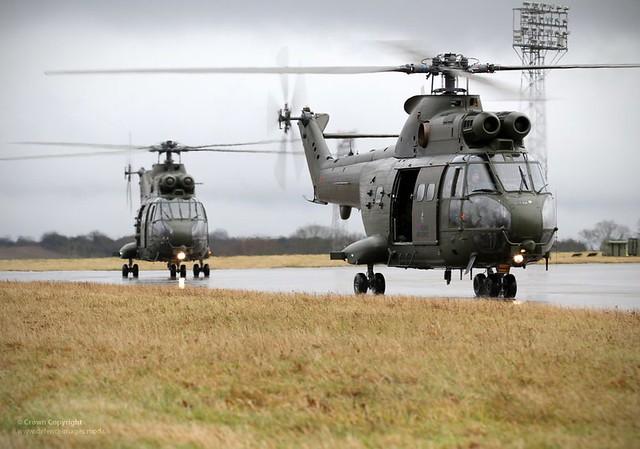Final Flight of RAF Puma HC1 Helicopters