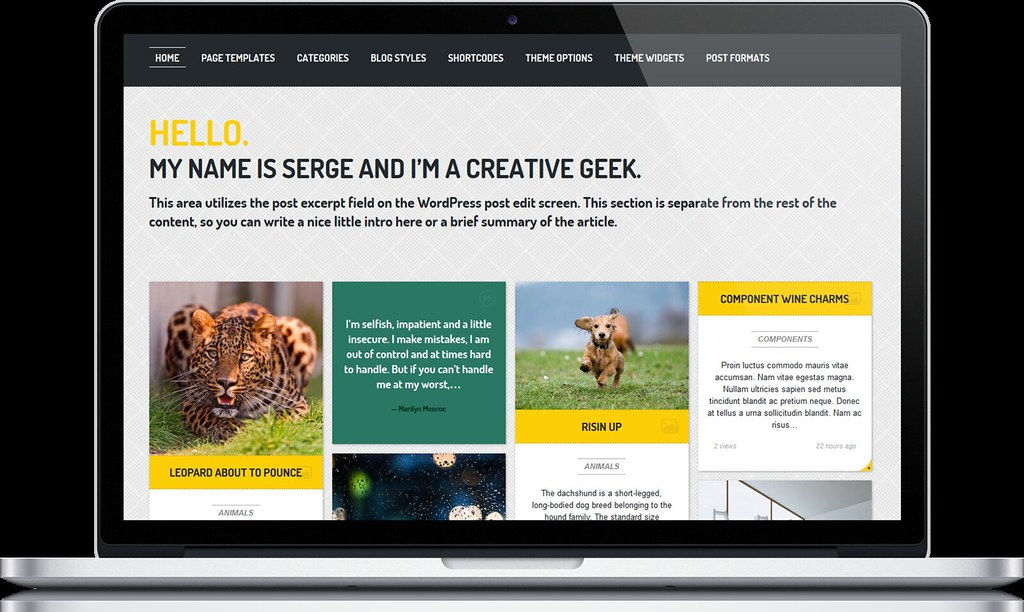 ... Streak - Responsive WordPress Theme - Macbook - by ZERGE_VIOLATOR