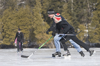 Skating with the family on Harrington Lake back in 2009. | by PM Stephen Harper