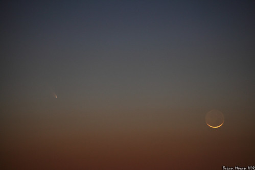 sunset moon queenanne maryland crescent astronomy comet panstarrs matapeakestatepark queenannecounty canon5dmarkii canon70300mml adobephotoshopcs5extended c2011l4 cometpanstarrs