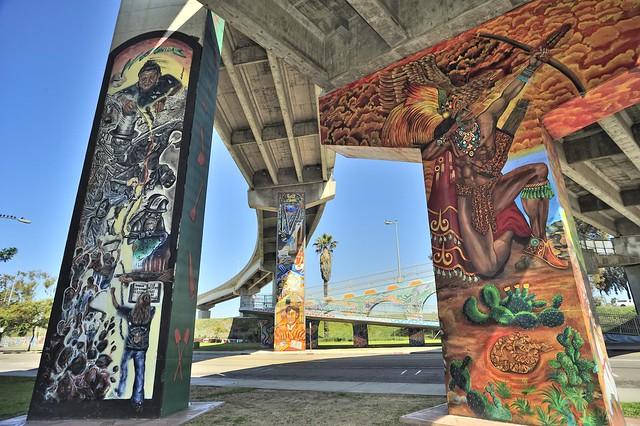 nikon nikkor 20mm 3.5 UD D3 Mexica  warrior San Diego Logan Chicano Park