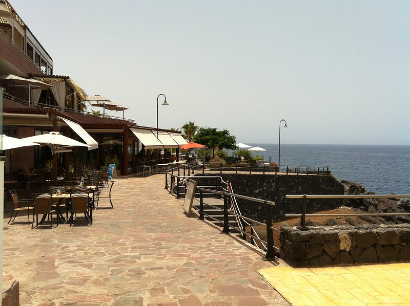 Seafront bars and restaurants, Puerto de Santiago, Tenerife