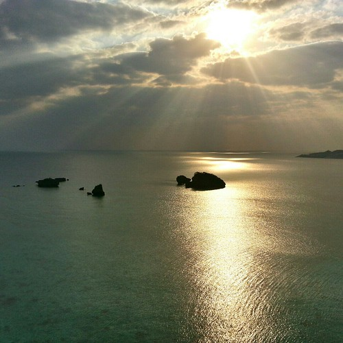 ocean sunset sea beach gold okinawa nago