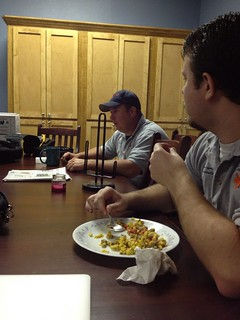Breakfast at Angleton EMS   by Pastor Lake