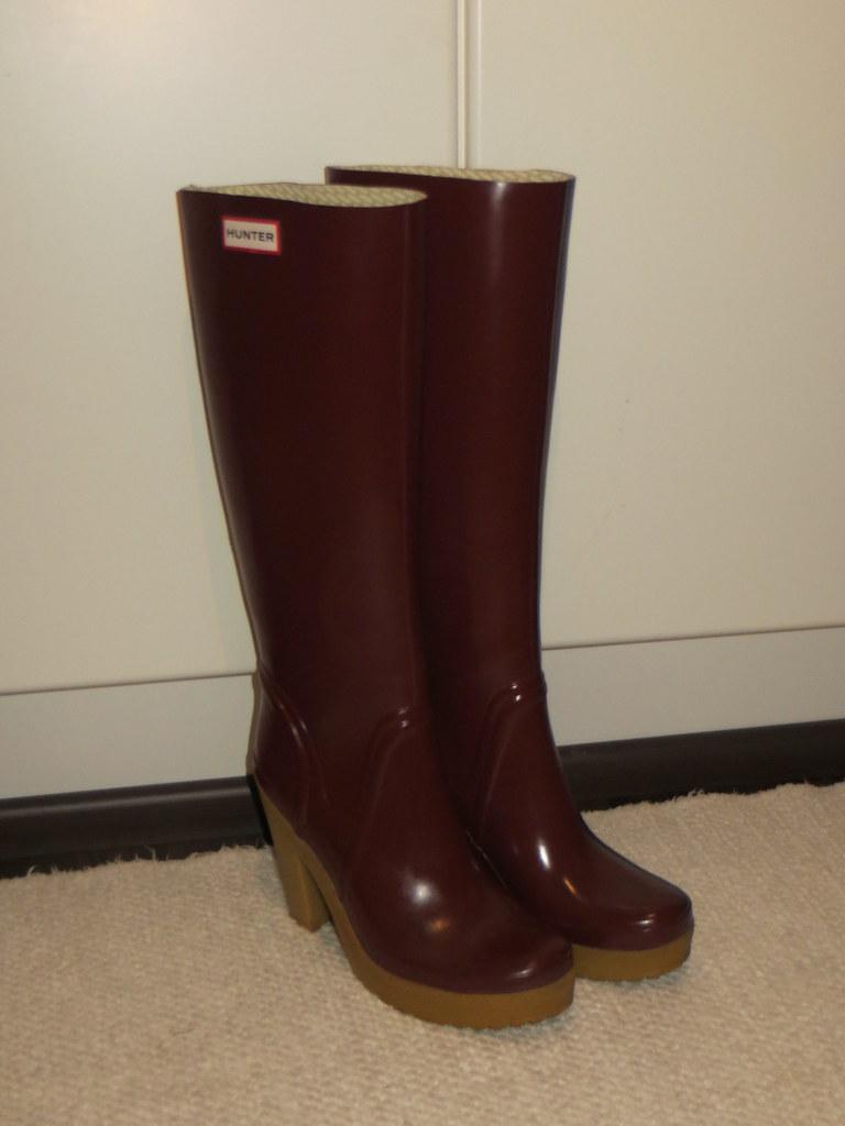 competitive price c886e c94f5 Hunter Lonny high heel boots cut top | jazka74 | Flickr