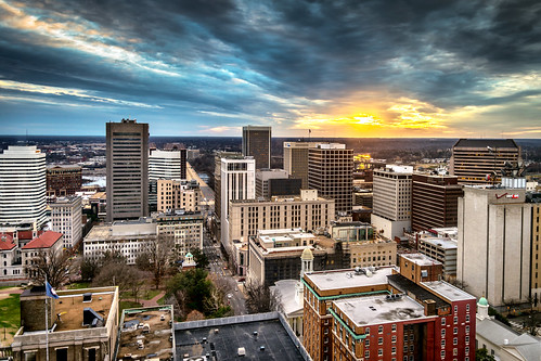 city sunset usa skyline photography virginia cityscape view aerial richmond va birdseyeview birdseye rva skynoir