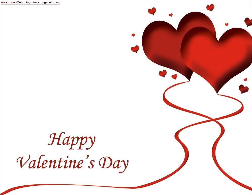 Day lines touching valentines heart Valentine's Week