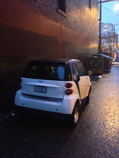 Car2Go in a Chinatown alley