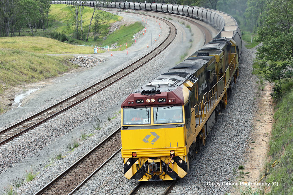 5006 heads back out to the coal fields by Corey Gibson