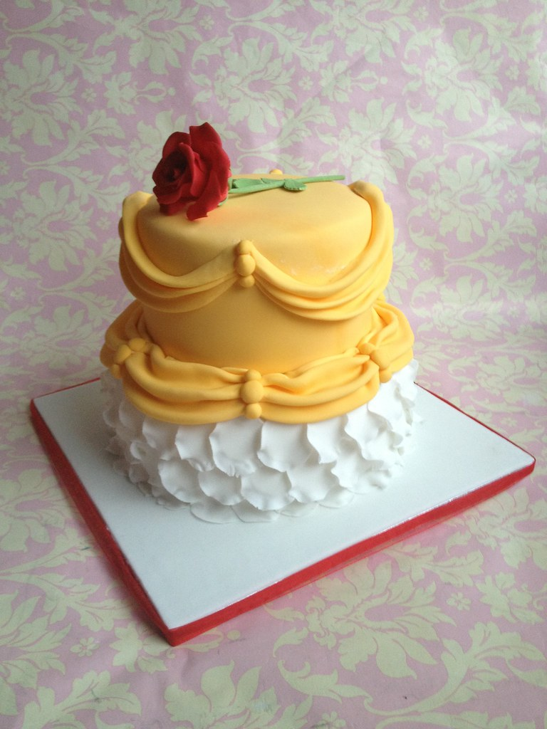 Pleasing Beauty And The Beast Birthday Cake Beauty And The Beast T Flickr Funny Birthday Cards Online Elaedamsfinfo