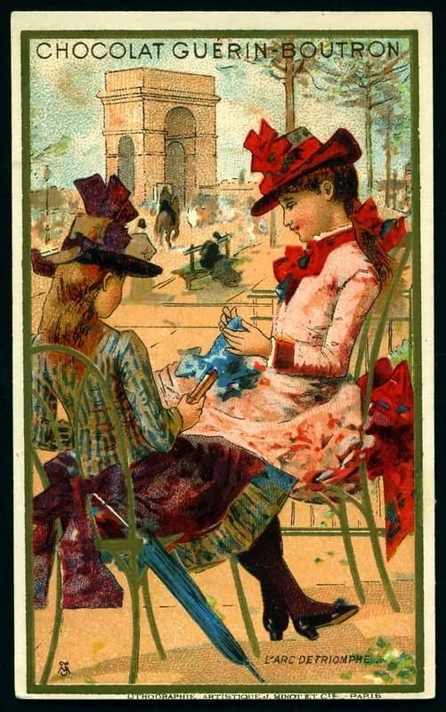 French Tradecard - L'Arc de Triomphe