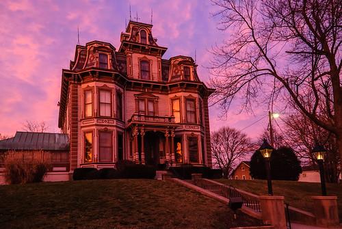 sunset indiana places richmond mansion waynecounty gaar photobyjane holmanphotoscom holmanphotography