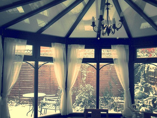 Snow-covered glass roof | by :: Wendy ::