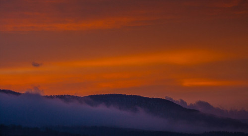 sky mist mountain nature clouds sunrise landscape vermont