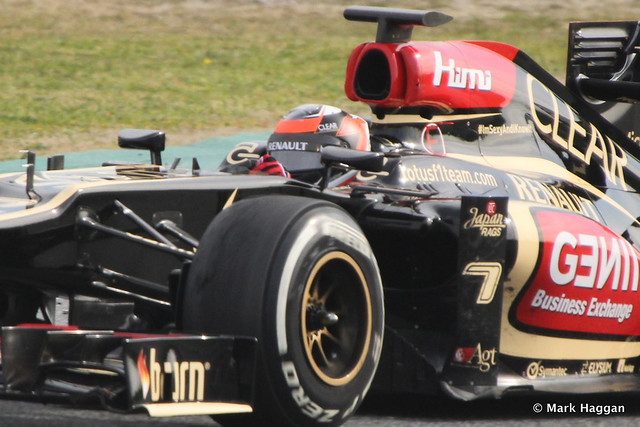 Kimi Raikkonen in his Lotus at Formula One Winter Testing, 3rd March 2013