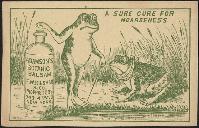 A sure cure for hoarseness - Adamson's Botanic Balsam (front)