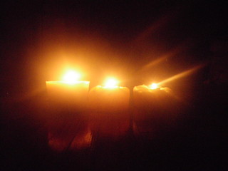 beeswax candle light comparison | by Shawn Caza