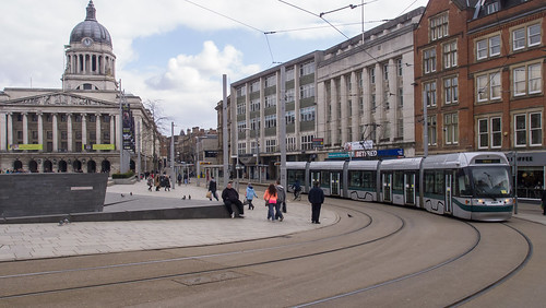 Nottingham tram 214 in Old Market Square | by interbeat