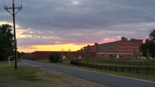 ludlow ma mill sunset