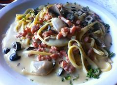 El zalamero linguine Montanara... @ La Cocina Toscana, SV