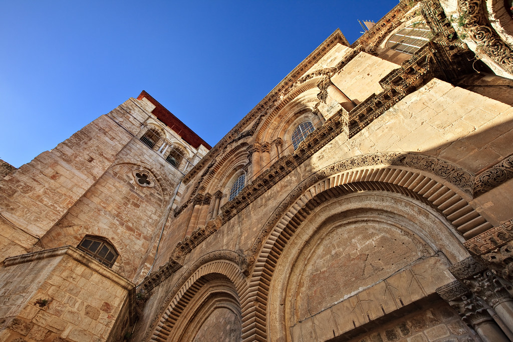 Image: Entrance to the Church of the Holy Sepulchre