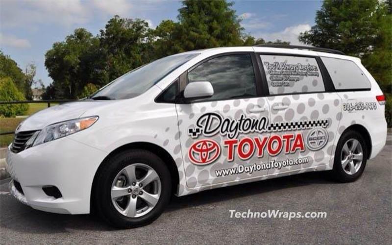 Minivan vehicle wrap in Daytona